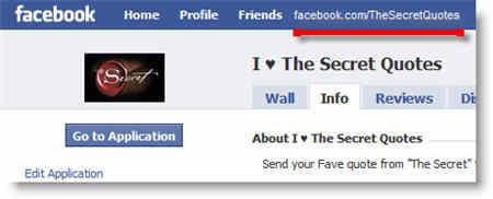 Facebook The Secret Application