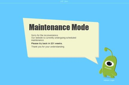 WP Maintenance Mode - Really Nice Looking Plugin!