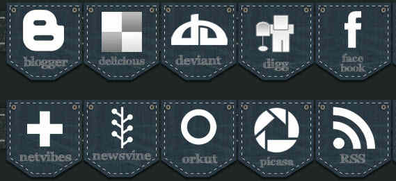 Jeans Social Media Icon Pack
