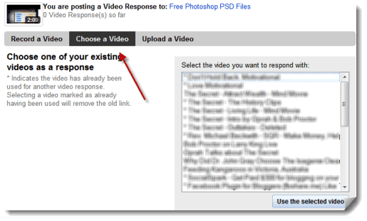 Find Popular Videos to Post Video Responses to