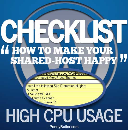 50 things you can do to speed up your blog [WordPress Checklist] Shared Hosting High CPU Usage
