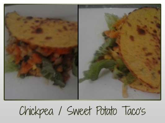 Chickpea & Sweet Potato Tacos