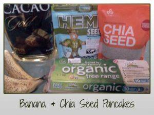 Banana Chia Seed Pancakes