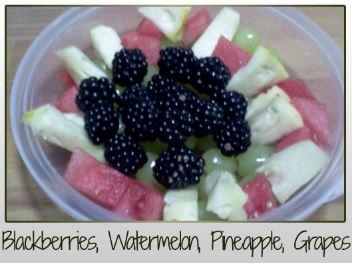 Blackberries Watermelon Pineapple Grapes