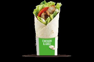 McD Grilled Chicken Aioli Wrap