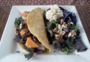 Veggie Chickpea Taco Salad