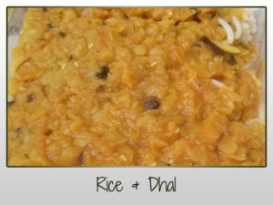 basmatic rice, dhal