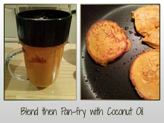 Blend then Pan-fry with Coconut Oil