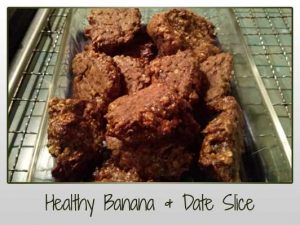 Healthy Banana & Date Slice