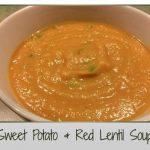 Sweet Potato & Red Lentil Soup