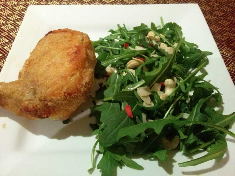 Chicken Kiev & Rocket Salad
