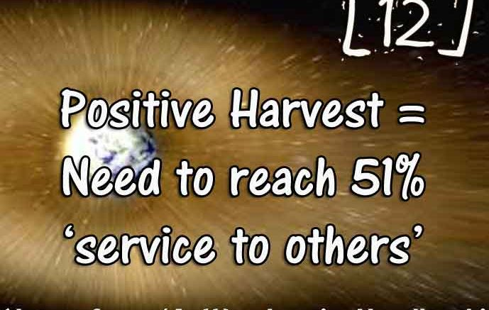 [12] – Positive Harvest = reach 51% service to others