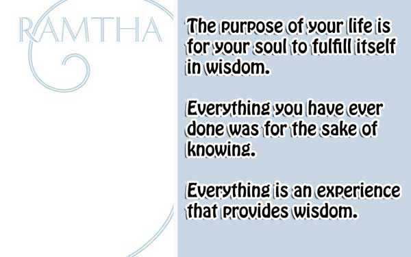 [Ramtha] The White Book 3 Why are you here?