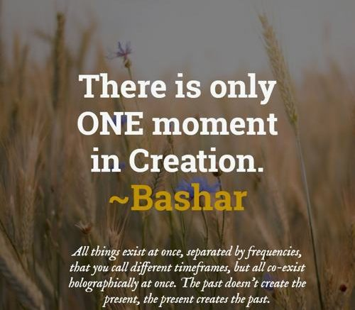 [Bashar] There is only one moment in Creation