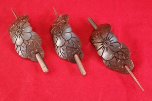 Balinese Hair Pieces – Hand-Carved from Coconut Wood – Barrette