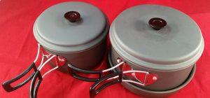 Aluminium Stackable/Foldable Camping Cookware set