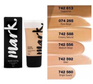 Avon Mark Nude Matt Fluid Makeup SPF 20 (3 Colours) 30g