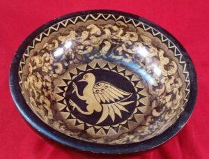Wooden Bowl – Bird Pattern (Ex-Shop Stock)